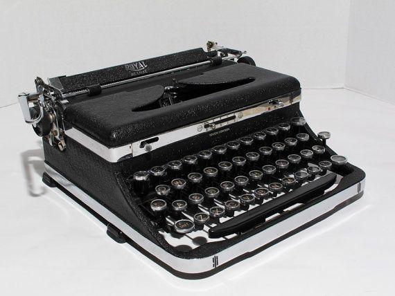Antique Royal Typewriter Yellow Vintage 1936 Royal Deluxe Manual Typewriter By Fishbonedeco Typewriter Royal Typewriter Retro Typewriter