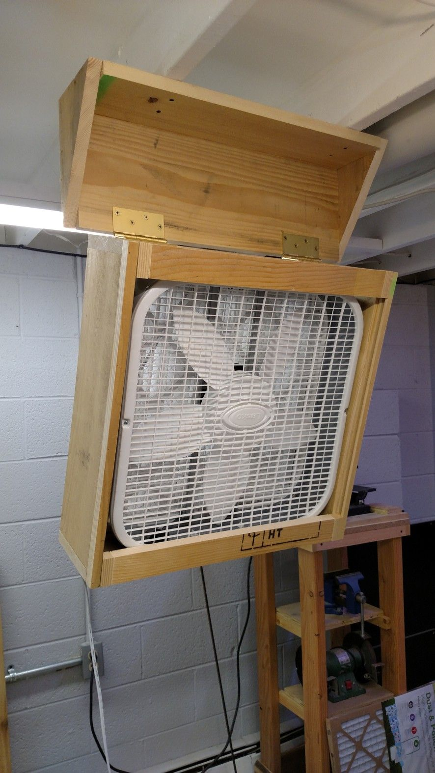 DIY Air Filter in 2020 Wood shop projects