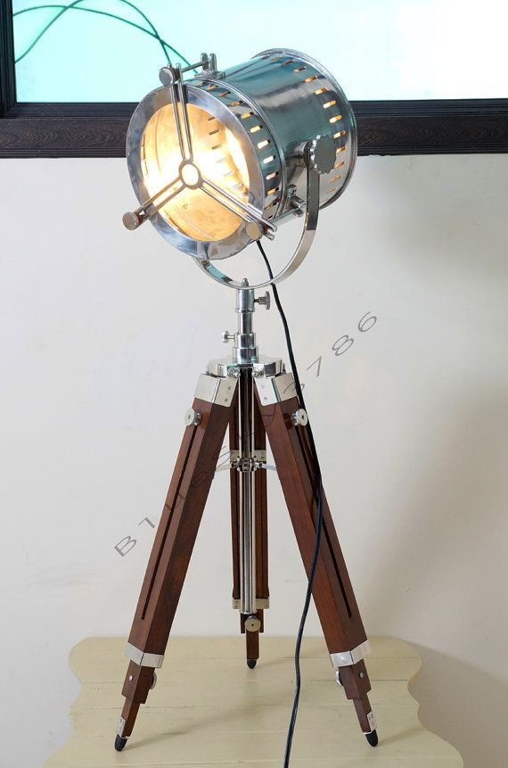 nautical vintage industrial theater stage spotlight floor lamp home decor industrial marine floor lamp mounted