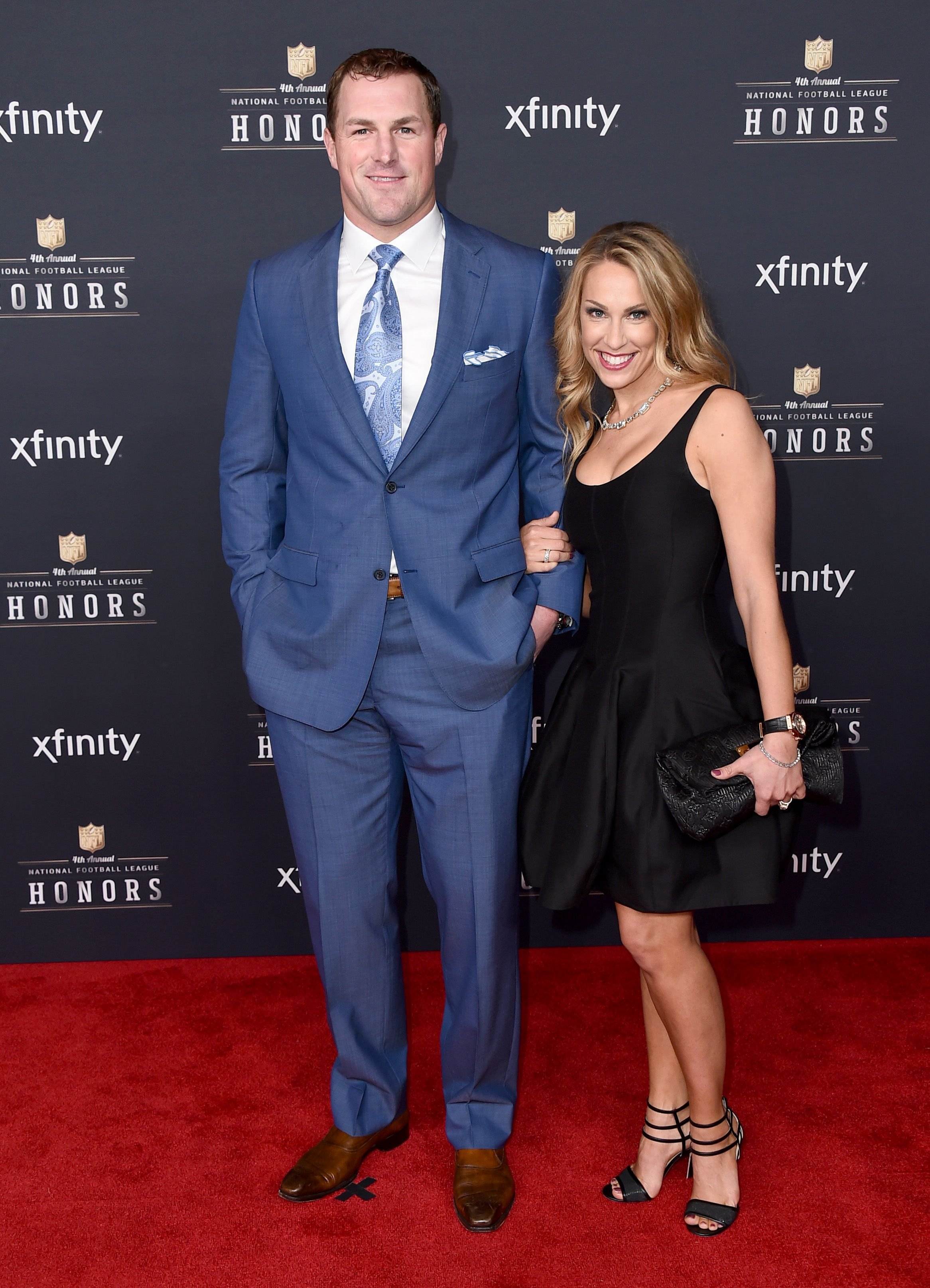Jason Witten Of The Dallas Cowboys And Michelle Witten Arrive In Style At The 4th Annual Nfl Honors Nfl Fans Dallas Cowboys Dallas Cowboys Cheerleaders
