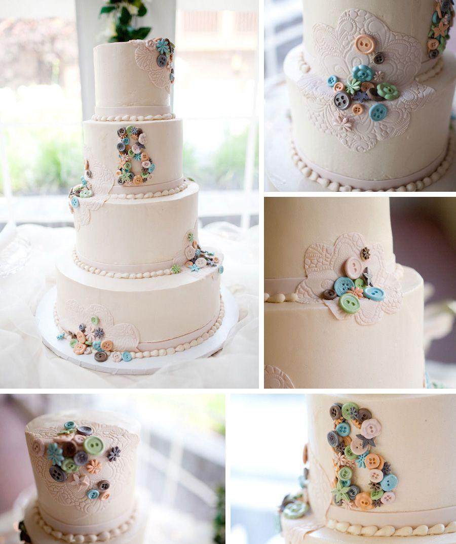 Button Themed Wedding Cake » Casey Fatchett Photography   Wedding ...