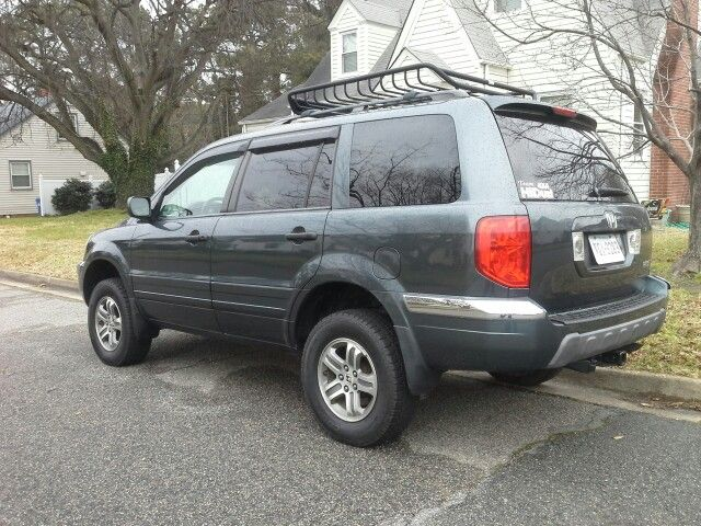 2005 Honda Pilot Exl Lifted Roof Basket Tow Package 1st Generation Honda Pilot 2005 Honda Pilot Honda Accessories