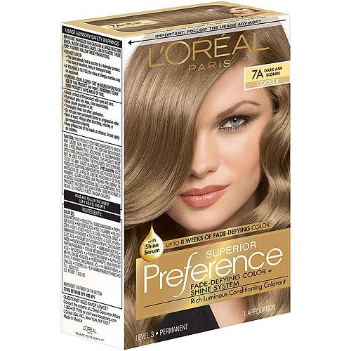 Loreal Paris 7a Dark Ash Blonde Like It For A Normal Color Some