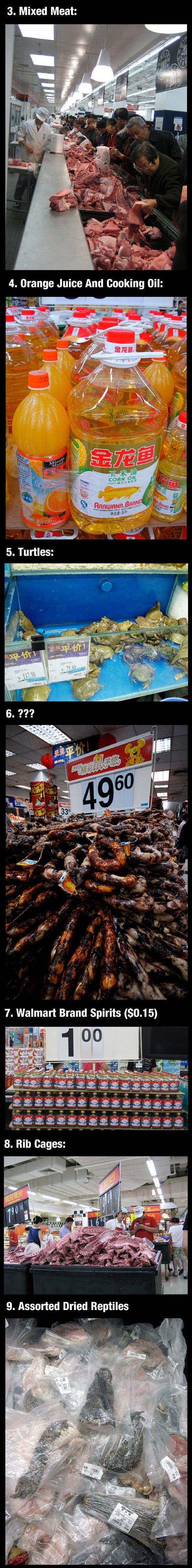 Weird things they only sell at chinese walmarts strange for Does walmart sell fish