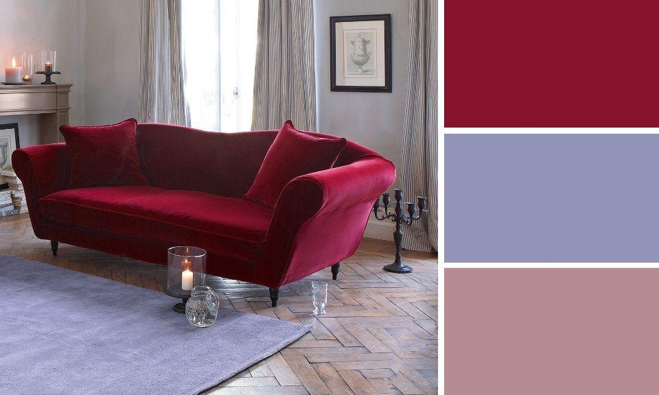 Quelles couleurs se marient avec le rouge m6 d p l i a n t drawing room home decor et - Chambre romantique rouge ...