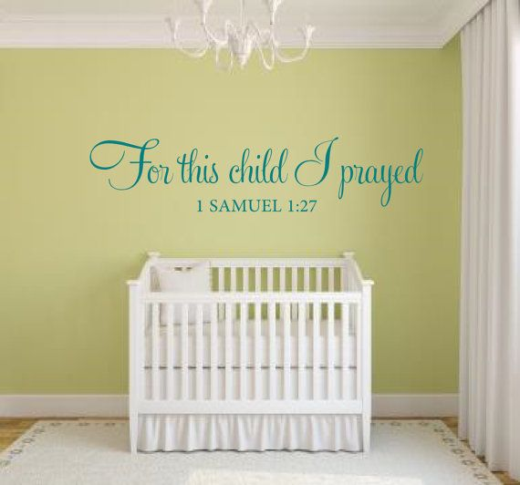 For this child I prayed Wall Decal Scripture Vinyl Lettering Wall ...