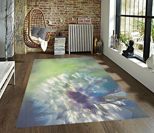 Dandelion Decorative Area Rug, Flower Rug, Dandelion Puff Floor