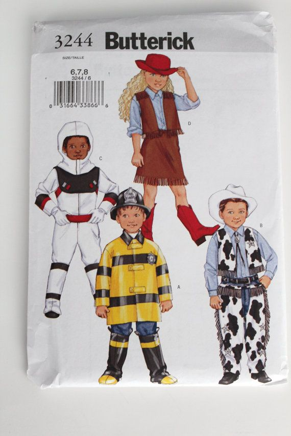 Childrens Halloween Costume Pattern New uncut Butterick sizes 6 7 8 ...
