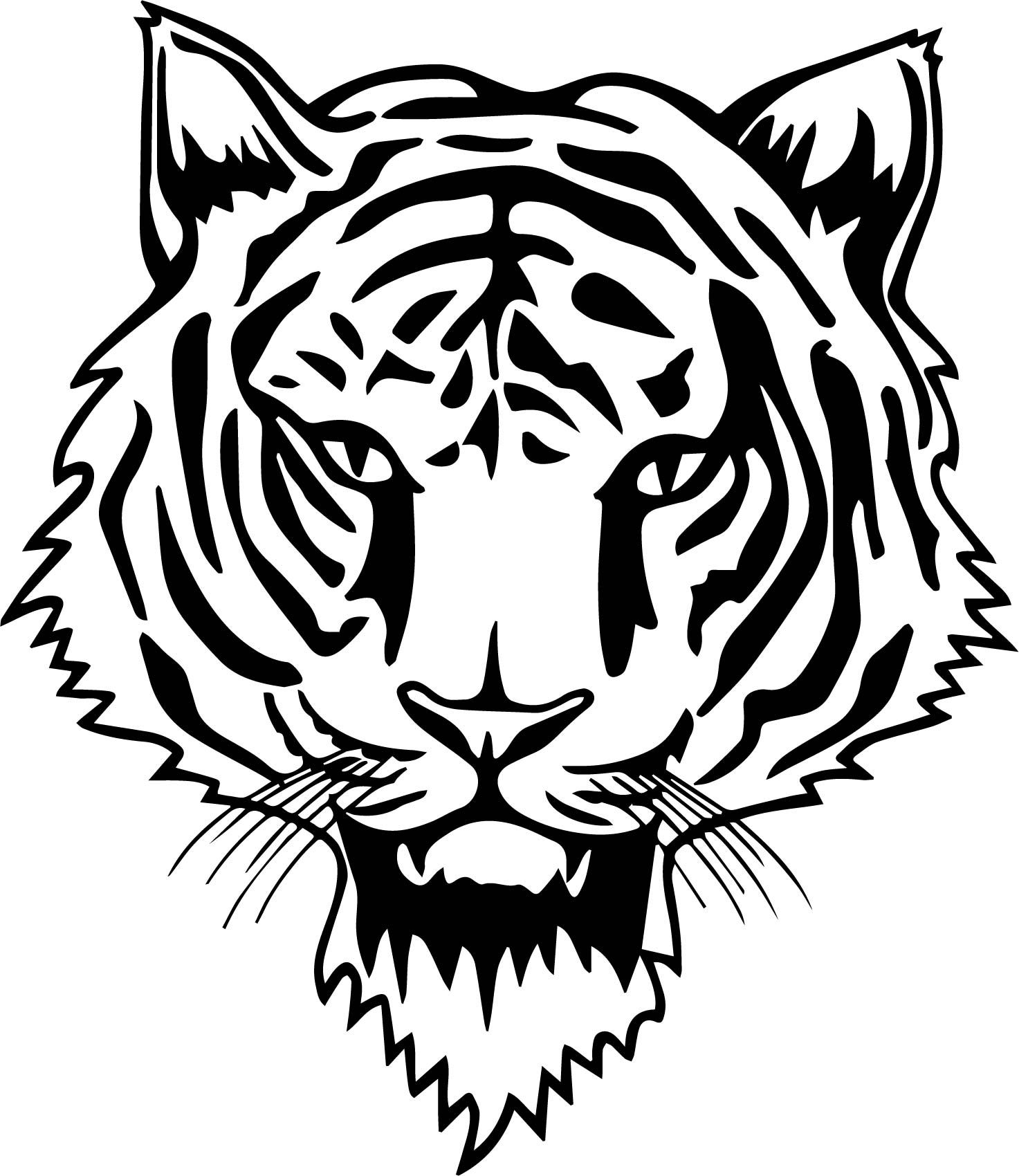 Coloring Pages Of A Tiger Face - PeepsBurgh