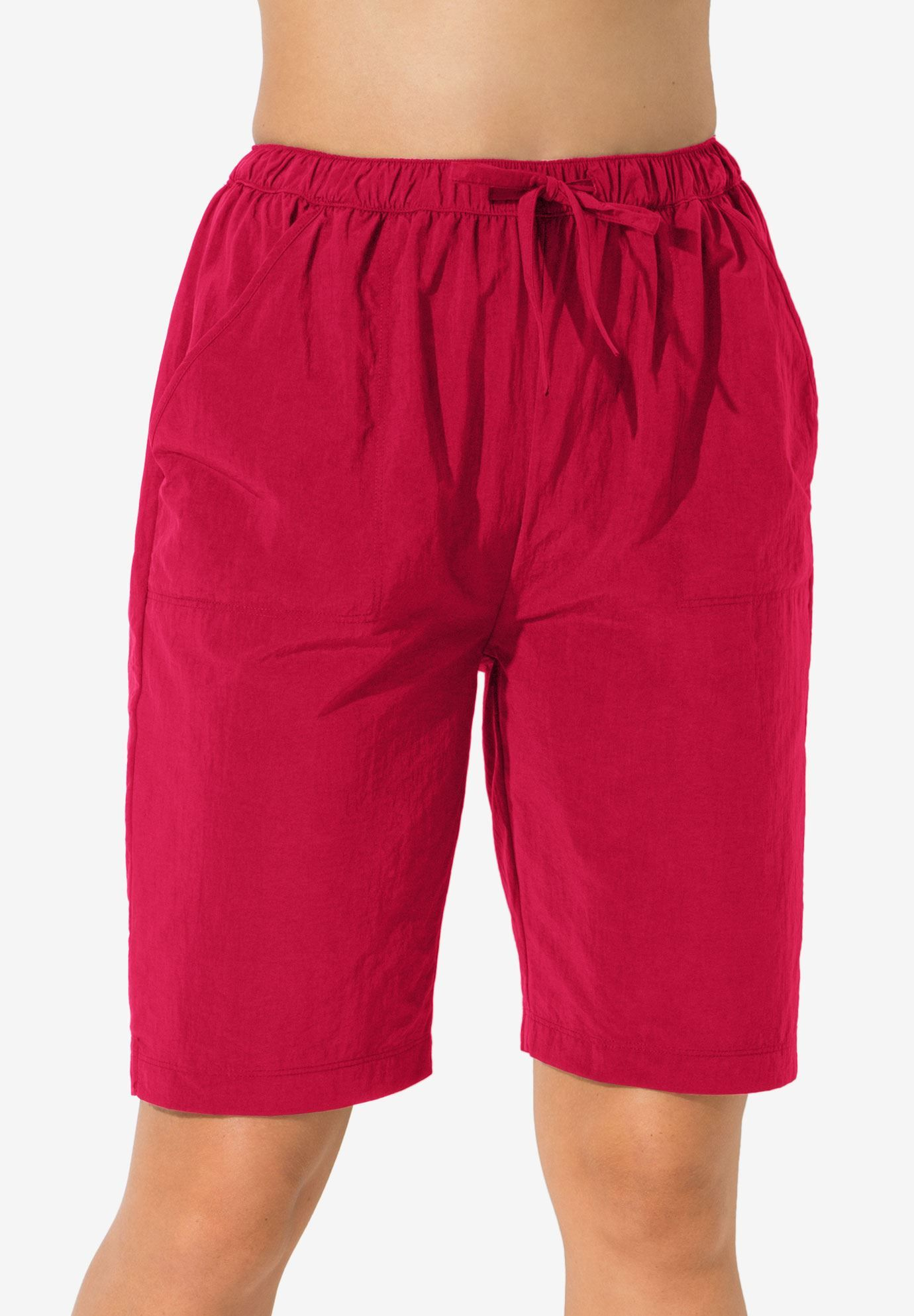 c899230495 Taslon® Swim Board Shorts with Built-In Brief, RED   Dana Ricky ...