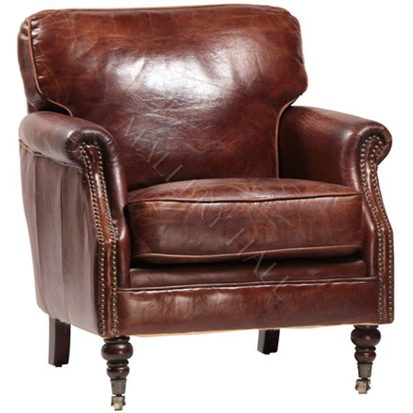 Distressed Waxed Brown Leather Arm Chair Leather Club Chairs Club Chairs Tufted Leather Chair