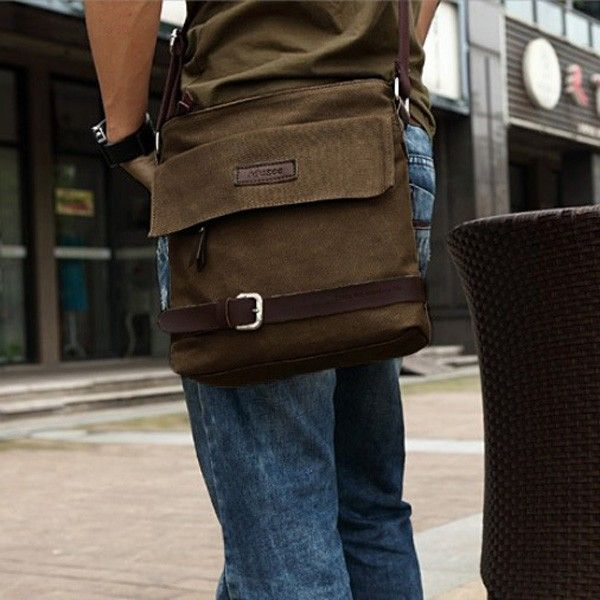 $17.98 / Mens Canvas Messenger Bag Casual Crossbody Bags via martEnvy. Click on the image to see more! / FREE SHIPPING