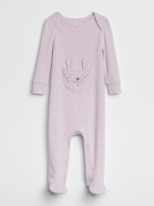 a80994a20 Gap Baby Bunny Footed One-Piece Purple Lilac | Products in 2019 ...