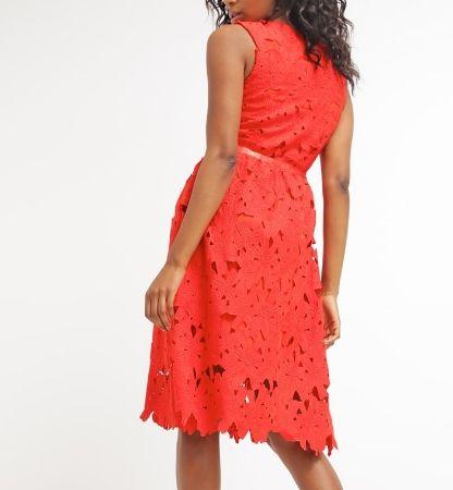 f75fab8ba82270 mint&berry Sukienka koktajlowa czerwona ażurowa red | Sukienki na ...