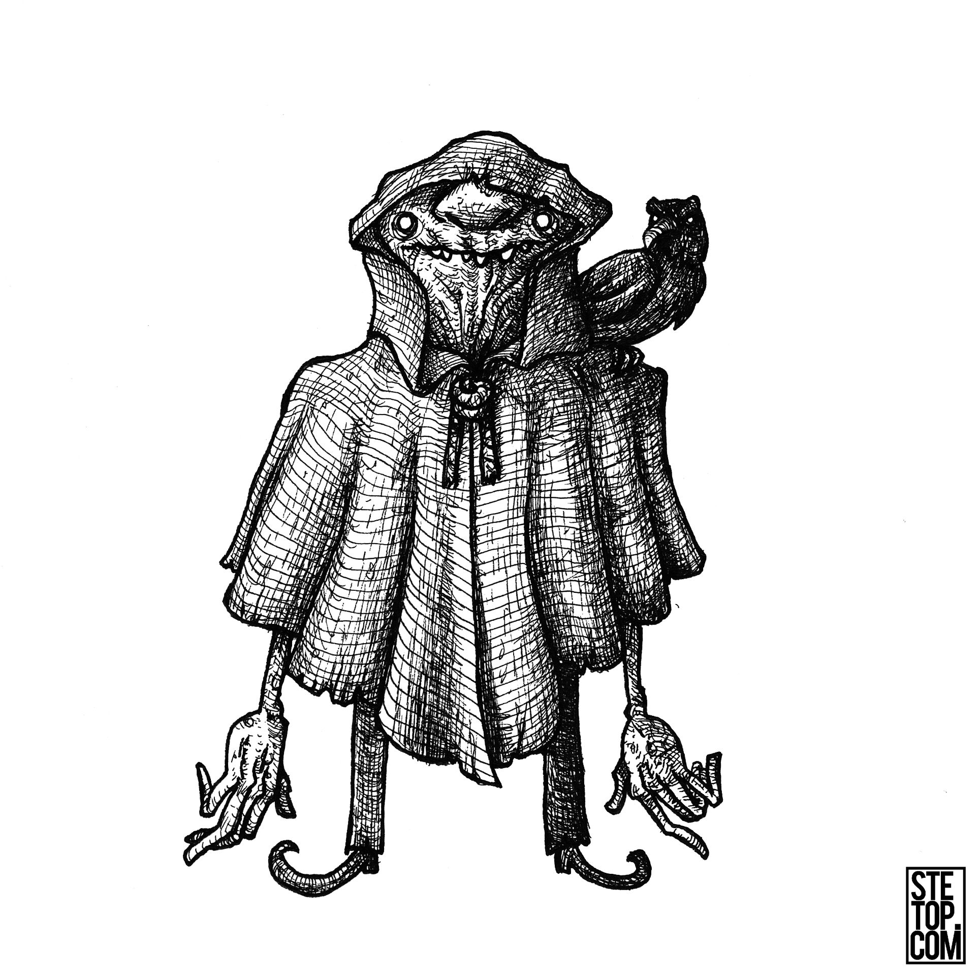 The Imp Line Art Character Design Illustration