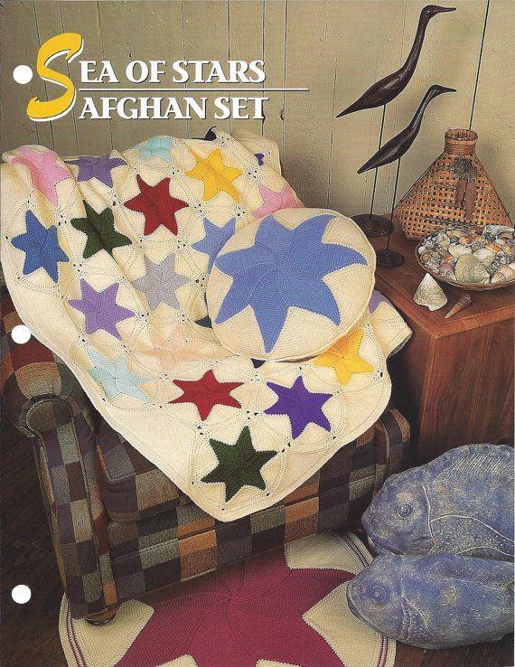 Sea Of Stars Afghan Set  Annie's Crochet by KnitKnacksCreations