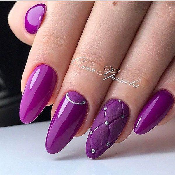 45 purple nail art designs silver rhinestone purple nail art 45 purple nail art designs prinsesfo Gallery