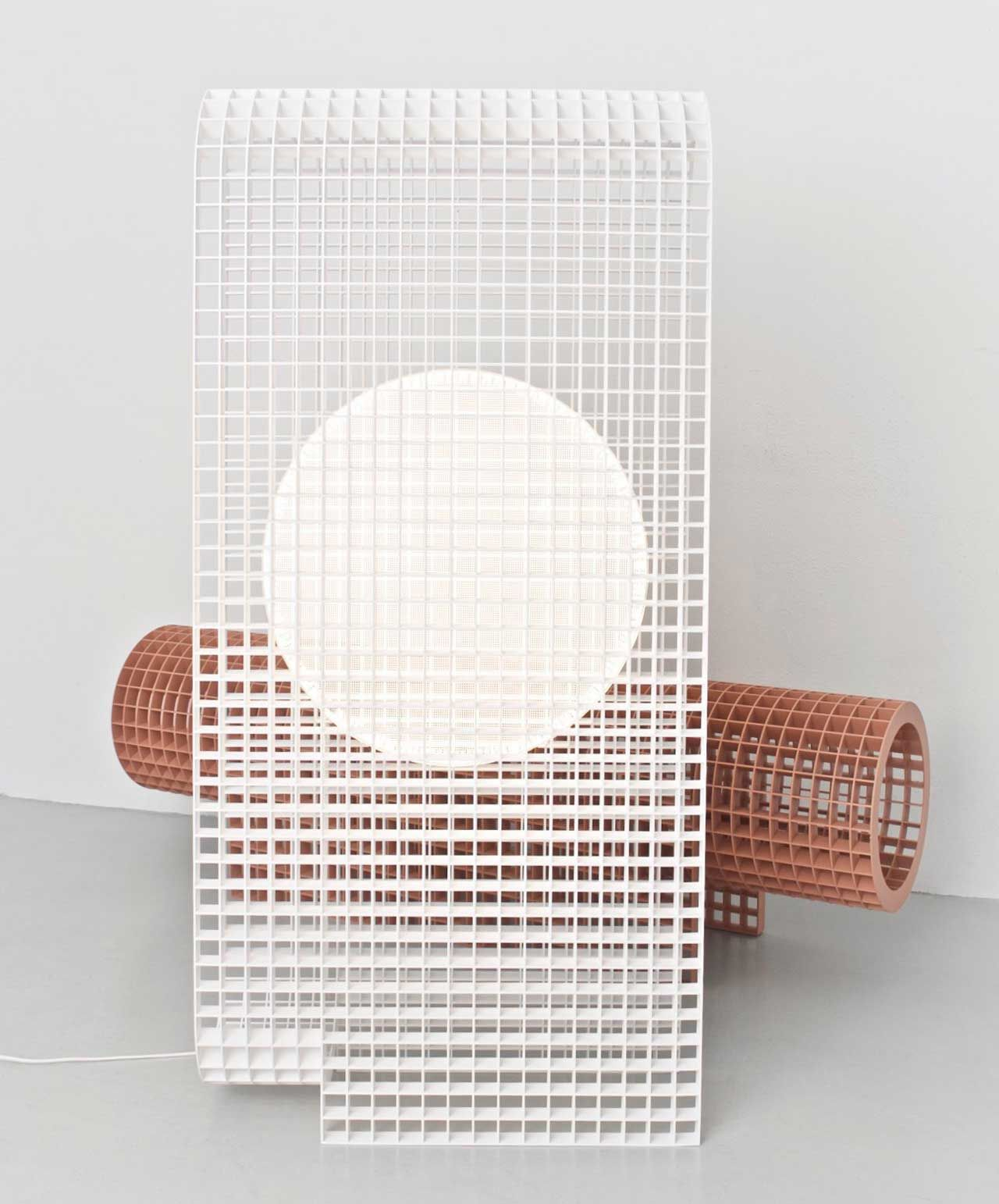 Matrix A Light And Bench Built From A Grid Structure By Os Oos  # Muebles Vasquez Bio Bio