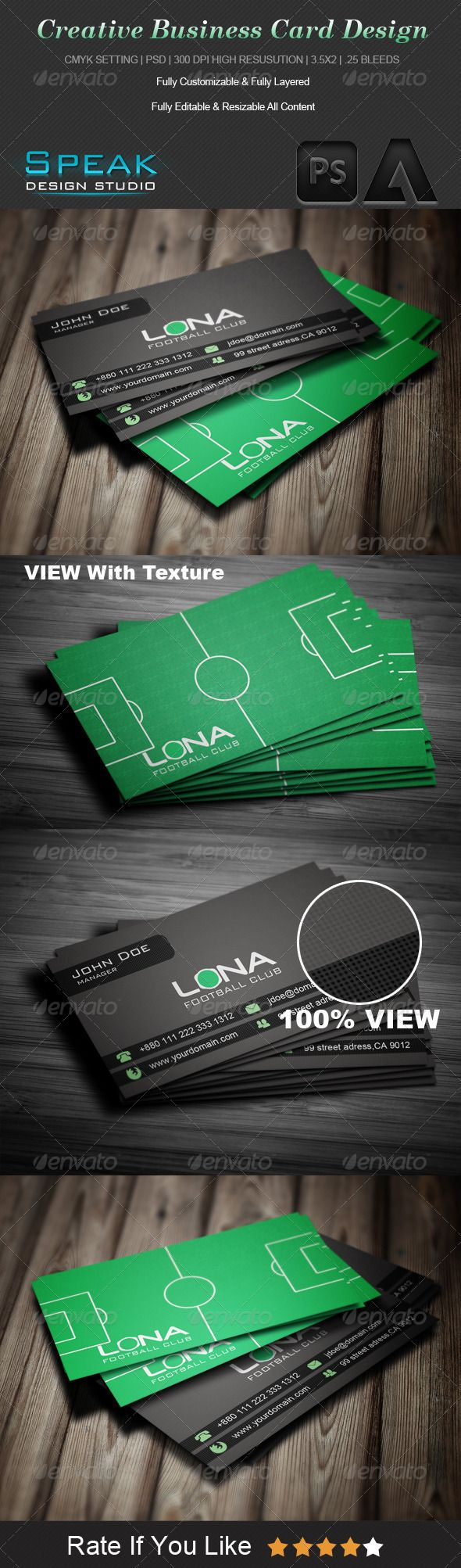 Football coach business card business cards business and logos creativesports business card design magicingreecefo Gallery