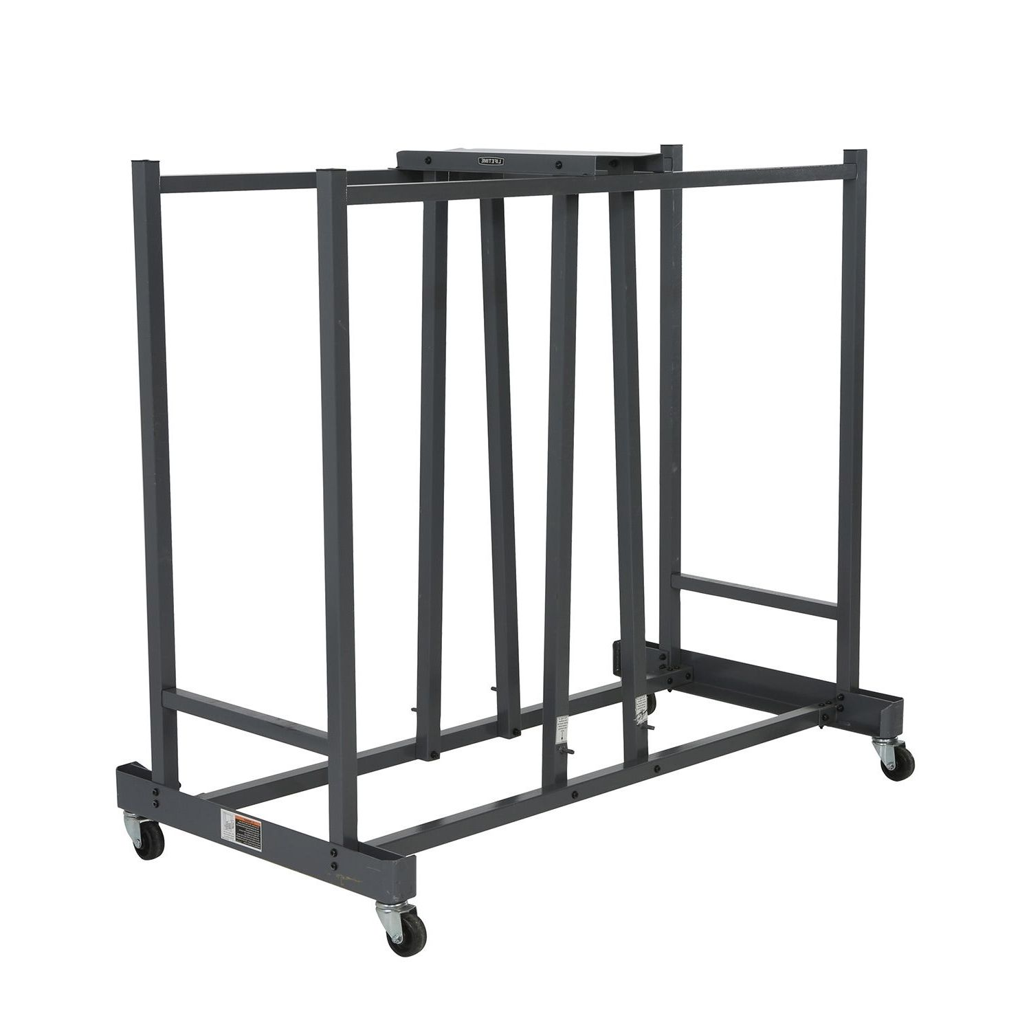 Folding Chair Storage Cart With Wheels