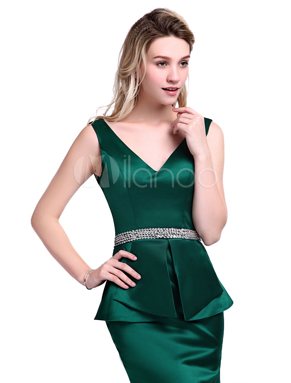 ebbf78ff1904 Dark Green Dress For Mother of the Bride with Sheath Off-The-Shoulder Satin