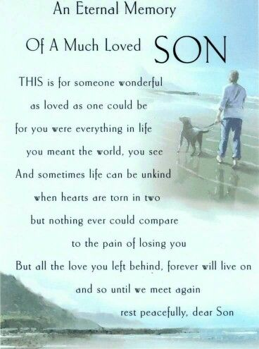Pin By Heart To Heart Sympathy Gifts On Journey Through Grief Son Poems Missing My Son Heaven Quotes
