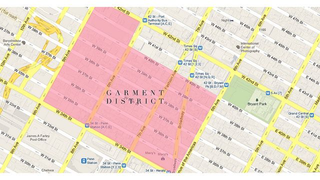 garment district map by apairandaspare via flickr
