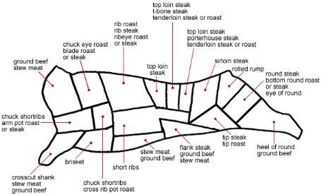 Great Diagram Of Cuts Of Beef Delicious And Delightful Food