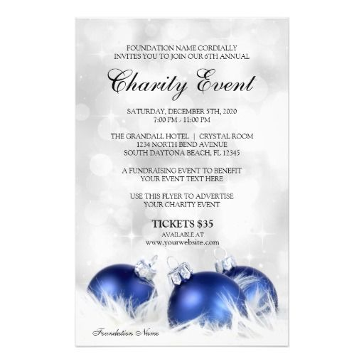 Holiday Flyer Template For Charity Event Fundraiser And Charity - winter flyer template