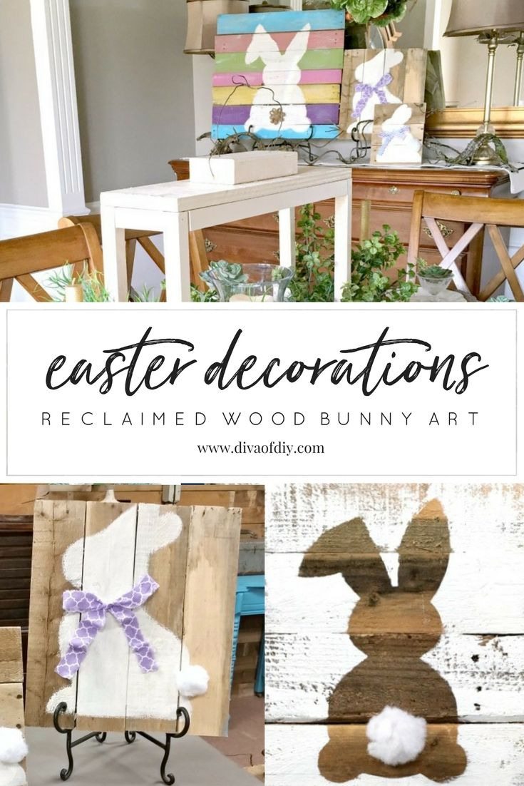 Easter Decorations: How to Make Bunny Art | Diva of DIY