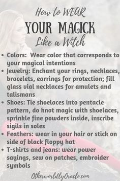 Modern Day Witch Fashion & How to Wear Magick #modernwitch