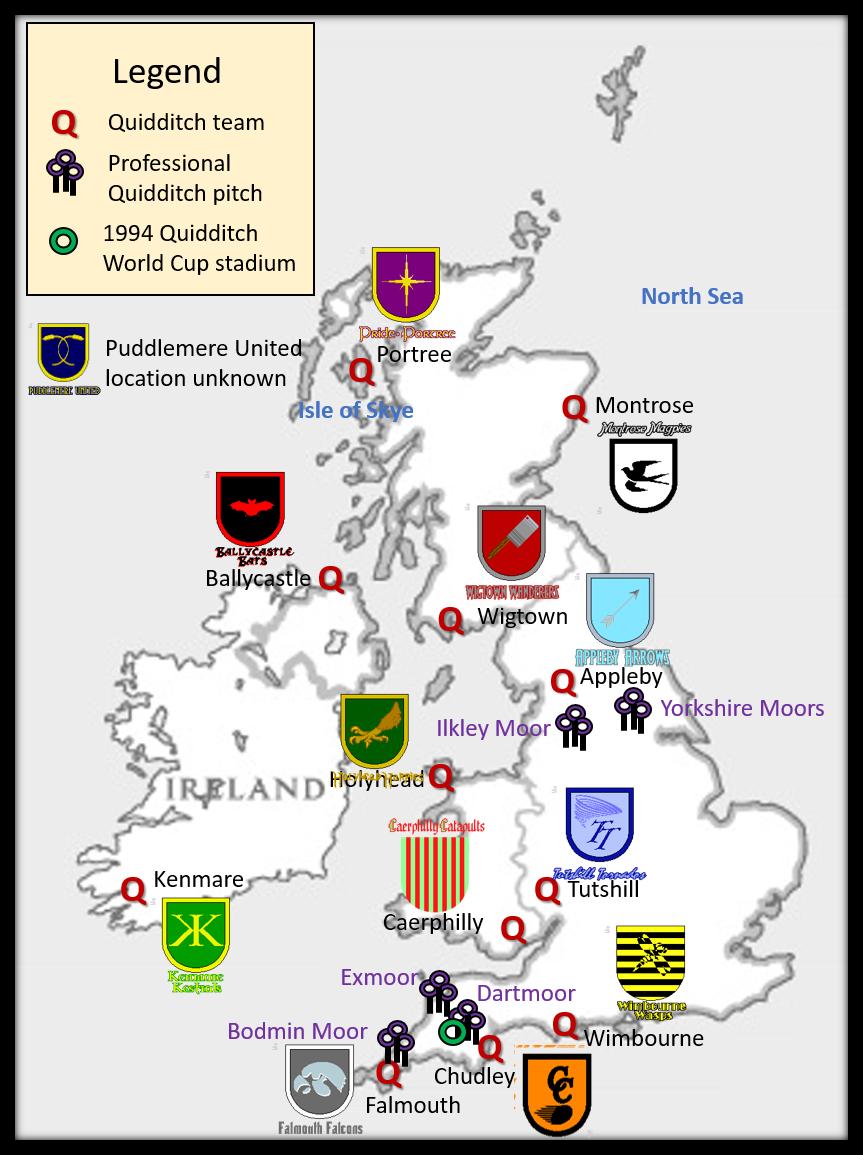 Quidditch Teams Of Britain And Ireland In 2020 Quidditch Hogwarts School Quidditch Pitch