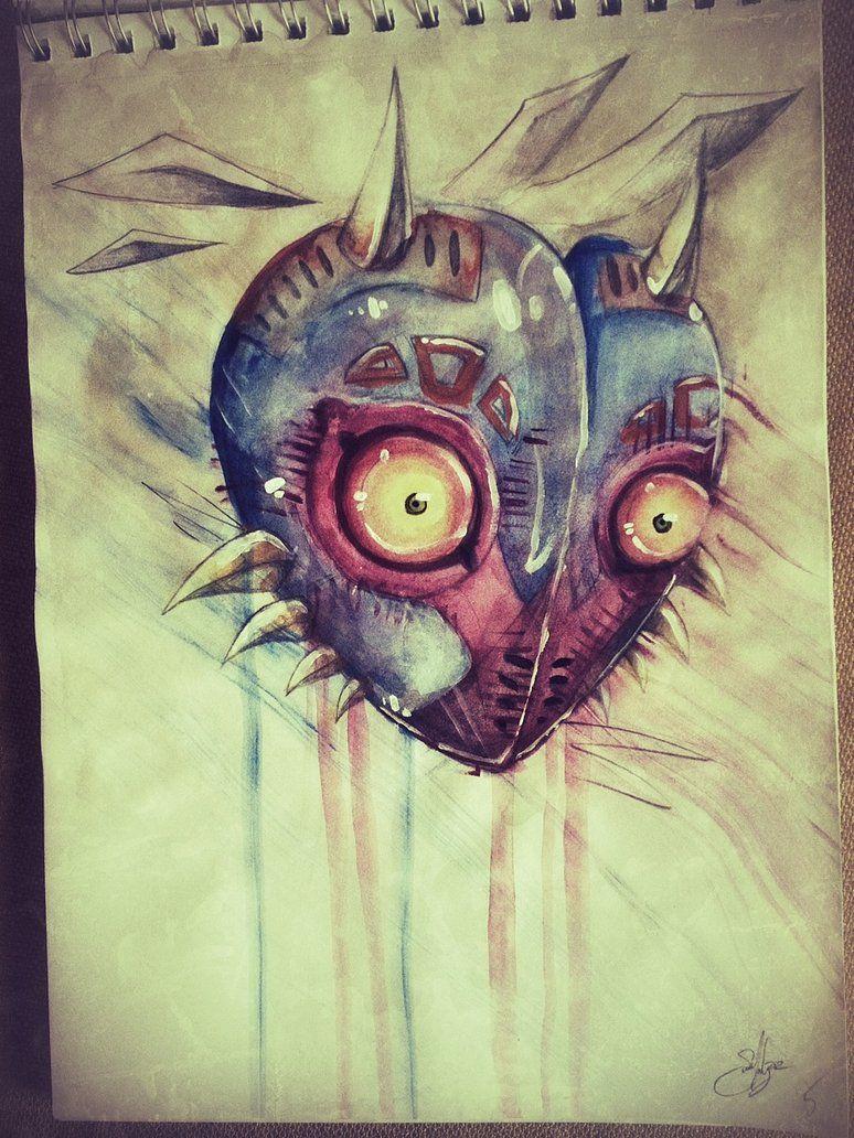 majoras mask by nivois on deviantART Zelda art, Geek