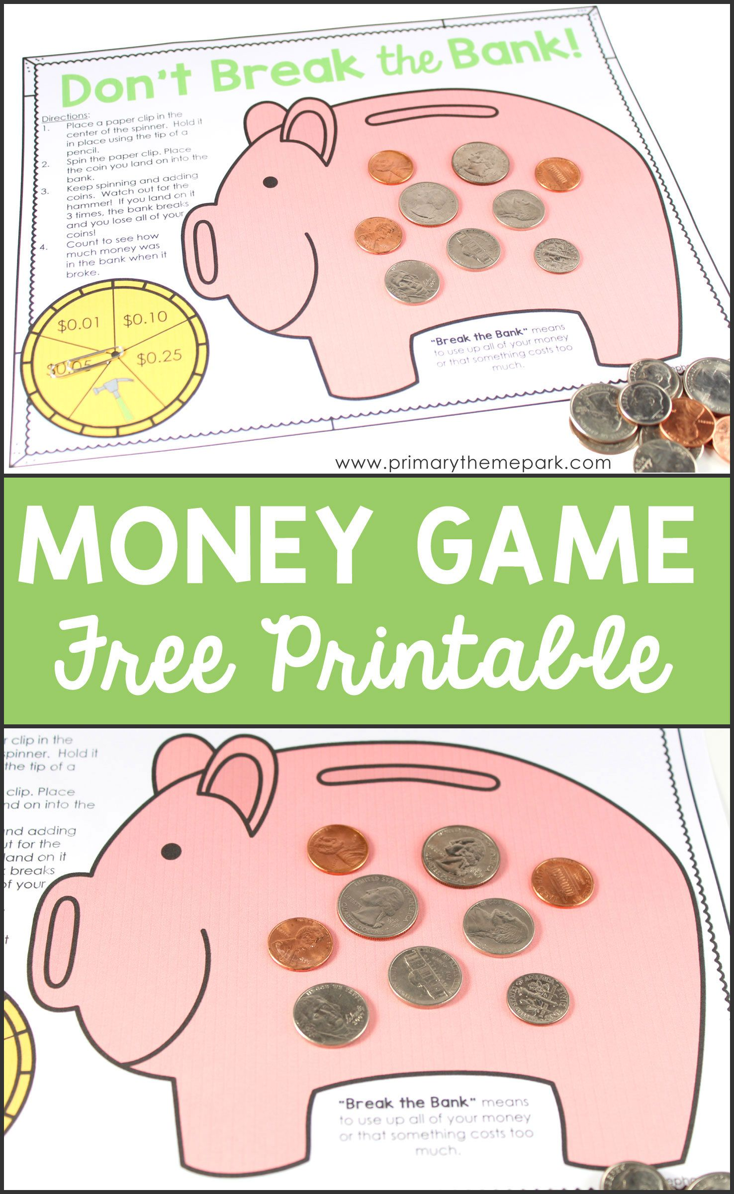 Money Activities For Second Grade Math Activities For Kids