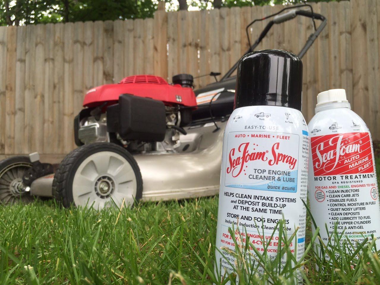How To Clean A Lawn Mower Carburetor And Intake Using Sea Foam Sea Foam Spray Cleaning Lawn Mower Foam