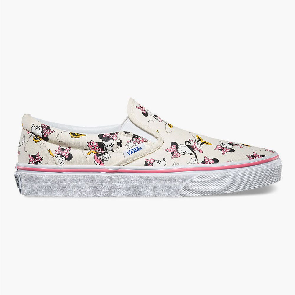 VANS Disney Minnie Mouse Classic Womens Slip-On Shoes 258387398 ... ba5f53ed6