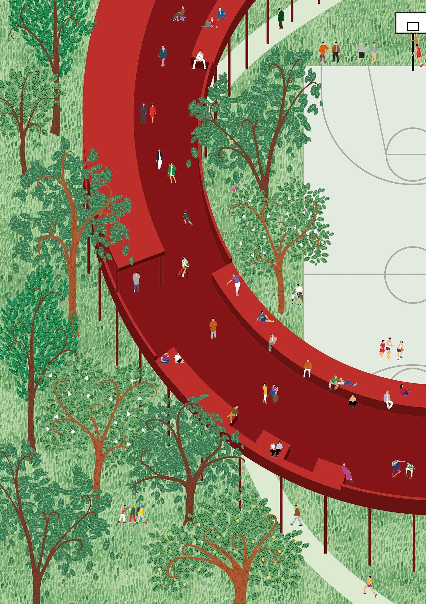 Landscape Architecture Blueprints axo_land_viar estudio arquitectura | landscape + architecture