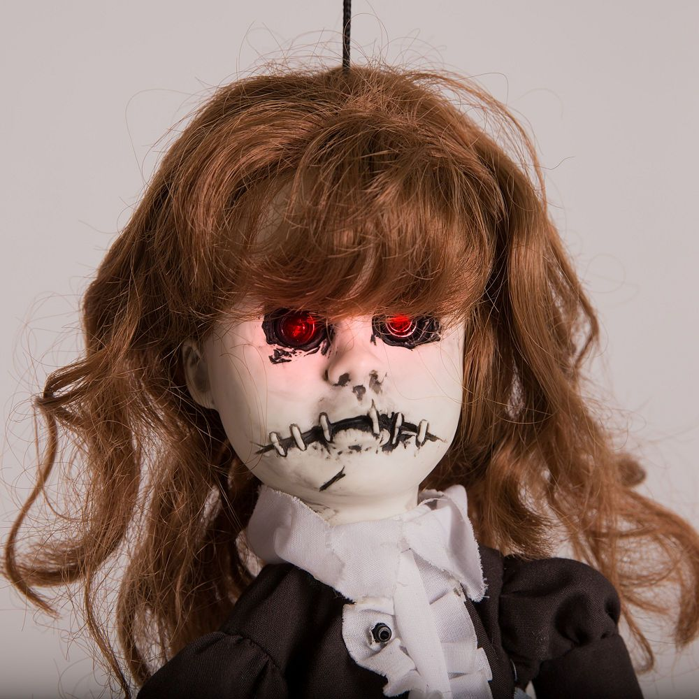 Animated Haunted Doll 8 1/4in x 15in | Party City ...