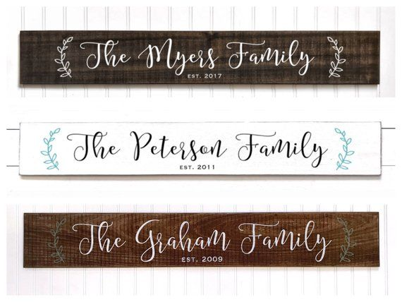 0765bc46b1a8c LARGE Family Name Sign | Established Wood Signs | Personalized ...