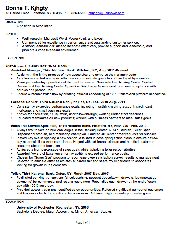 It resume example 2014