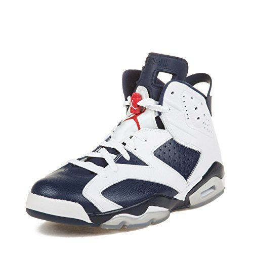 33480d5b4ae1 Nike Mens Air Jordan 6 Retro Olympic WhiteMidnight NavyVarsity Red Leather  Basketball Shoes Size 13     Details can be found by clicking on the image.