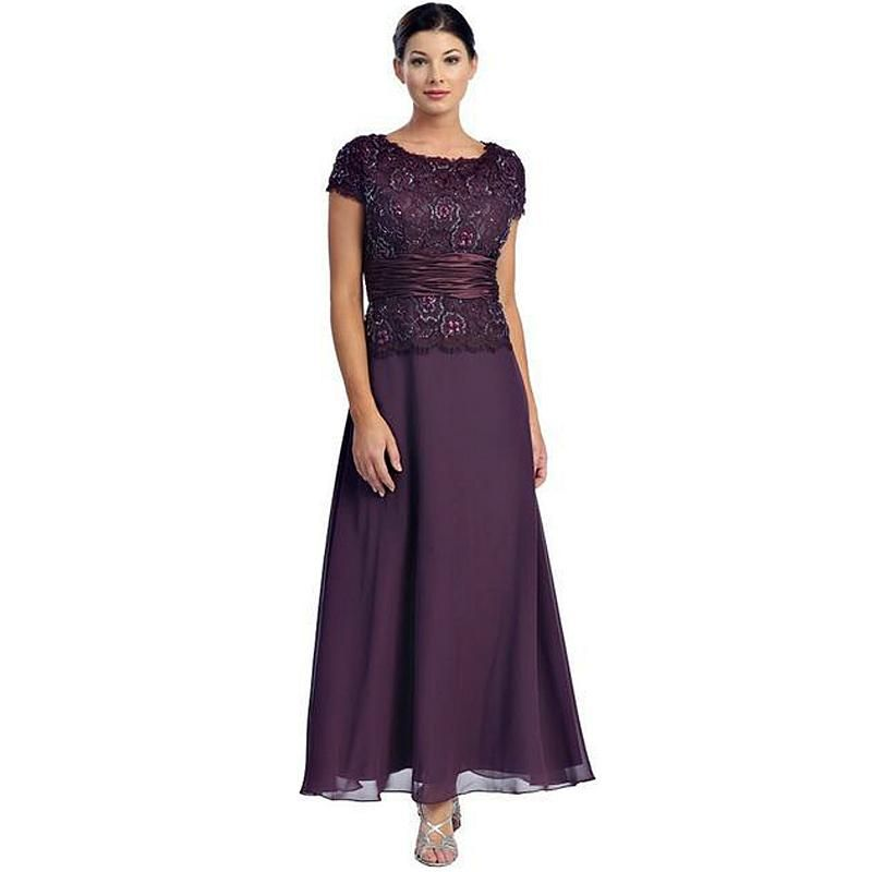 Cheap Hot Sale Custom Size Long Women Formal Dress Lace Chiffon ...