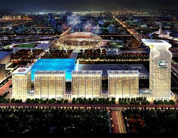 Morgan Plaza Is Now Called The Pangu Seven This 7 Star Hotel Has 4th Largest Library In World And First Of Its Kind China Location Beijing