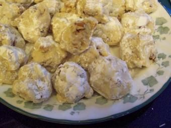 softened butter | confectioners' sugar, plus more for coating | vanilla | flour | salt | walnuts  (minced fine)-Mexican Wedding Cakes, Easy fast healthy recipes from world cuisines.