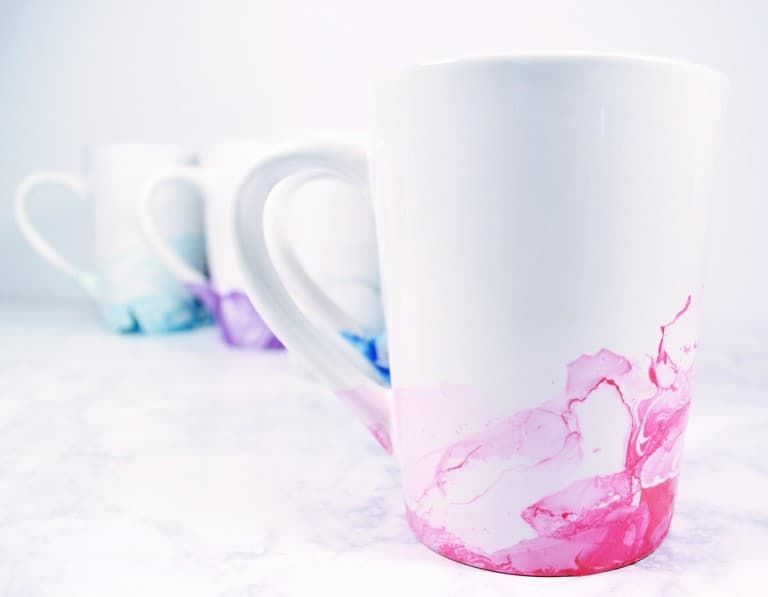 Nail Polish Mugs An Easy Craft Project Diy Mugs Easy Craft