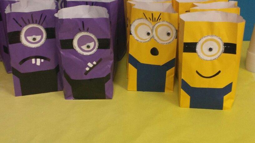 Minion candy bags