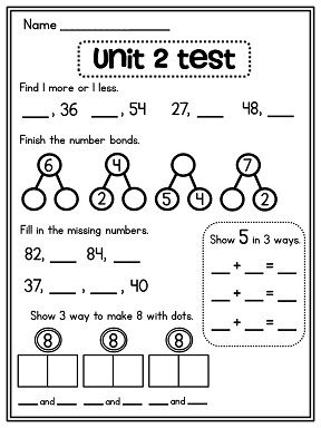 First Grade Math Unit 2 Number Sense Part Part Whole Number Bonds And More First Grade Math Number Sense Number Bonds