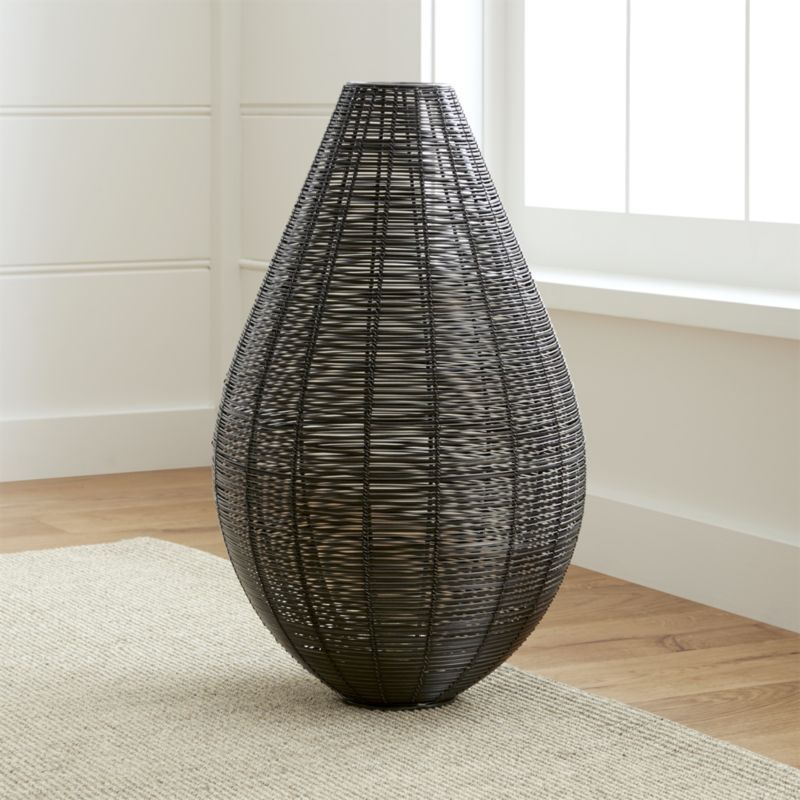 Shop Myron Metal Floor Vase Dramatic Handcrafted Iron Floor Vase