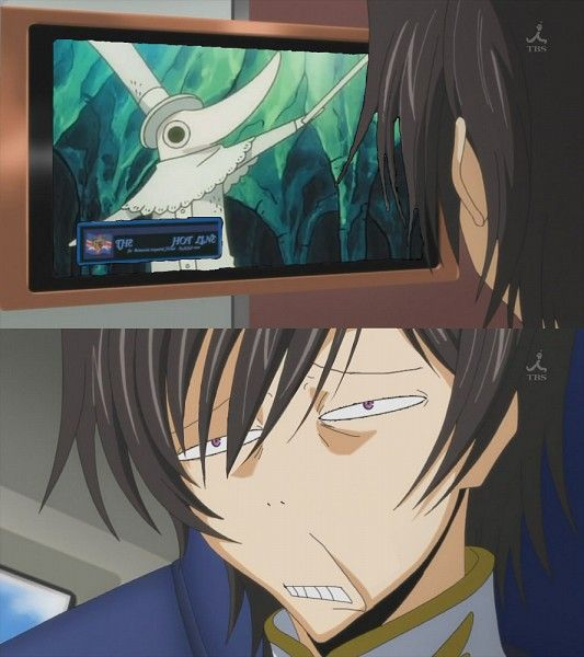 Anime/manga: Soul Eater and Code Geass Characters: Excalibur and Lelouch, the face!
