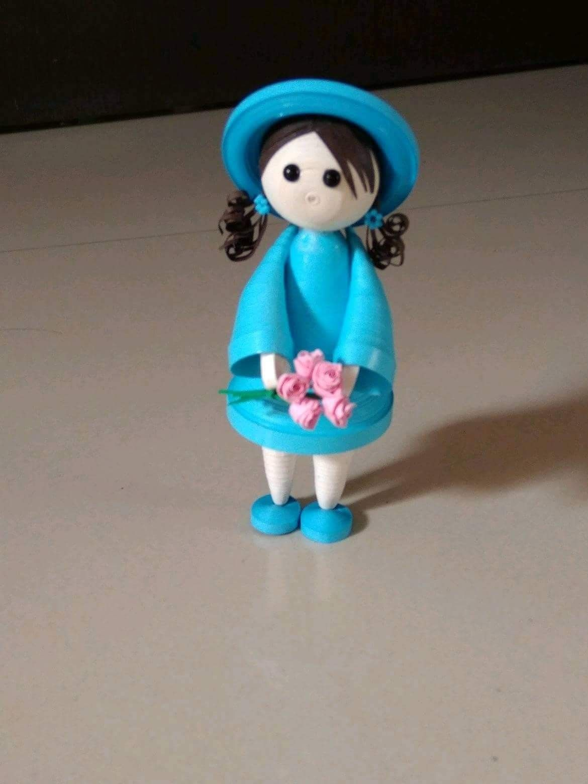 877fd0959 quilling doll | quilling | Quilling dolls, Paper quilling earrings ...